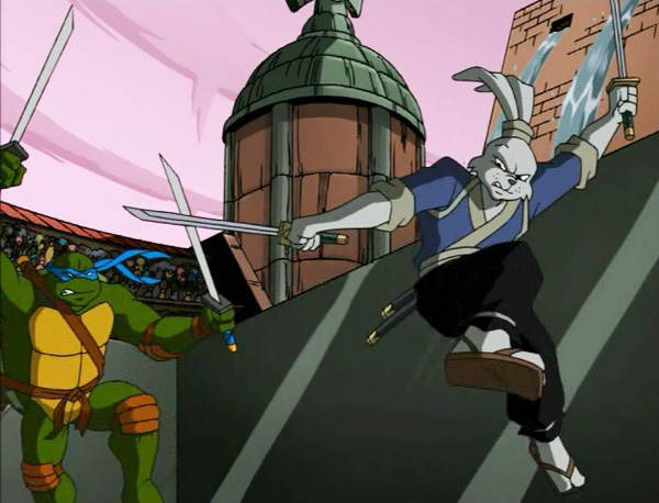 Usagi Yojimbo and Leonardo of the TMNT!